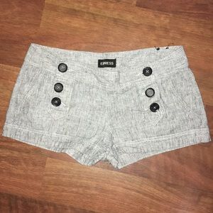 Express Button Up Booty Shorts Size 4
